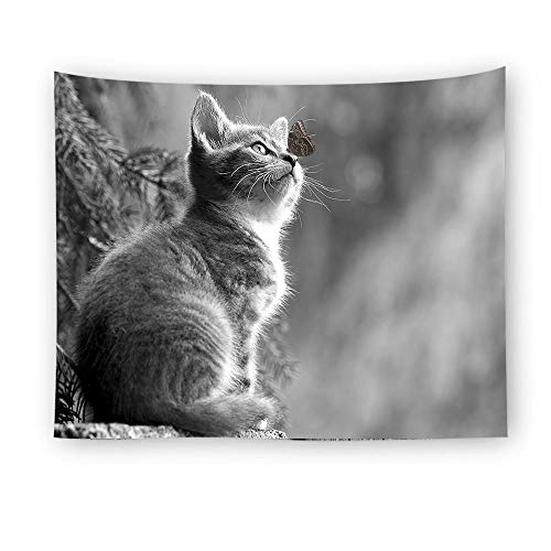 ZYLSZBD Wall Tapestry Wall Hanging Tapestries Wall Blanket Wall Art for Living Room Bedroom DecorDecorative cloth cat print-Picture 2_150X150cm