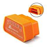 Aermotor ELM327 Bluetooth 4.0 OBD2 Automotive Scanner & Reader Tool for iOS & Android & Windows