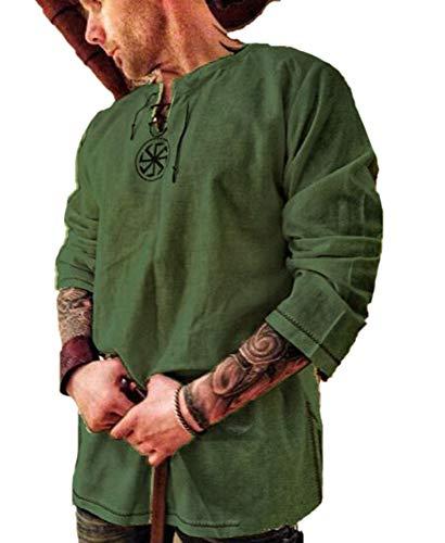 Babao Hombres Disfraz De Tnica Medieval Camisa De Halloween Tops Renaissance De Manga Larga