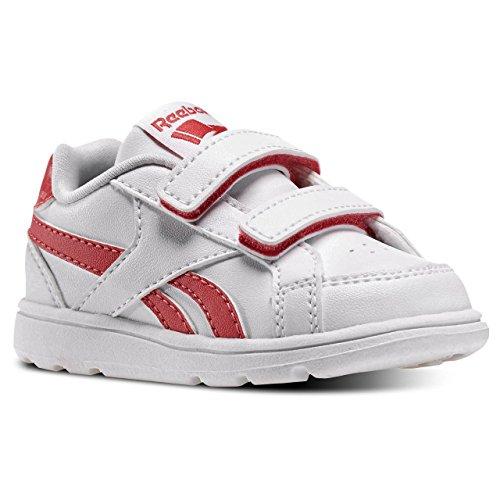 Reebok Royal Prime Alt, Zapatos de Primeros Pasos Unisex bebé, Blanco/Rosa (White/Fearless Pink), 22.5 EU
