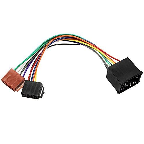 Adapter-Universe 1080 - Adaptador de Radio para Coche (Cable DIN ISO para Coches BMW Serie 3, 5, Z3, E34, E36, E46 y E39)