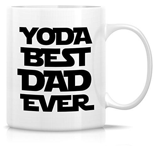 Retreez Funny Mug - Yoda Best Dad Ever 11 Oz Ceramic Coffee Mugs - Funny, Sarcasm, Sarcastic, Motivational, Inspirational birthday gifts for dad, papa, father, father