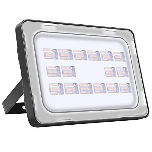 LED Strahler Außen 50W LED Beleuchtung 3500LM LED Lampe Scheinwerfer 2800K-3200K Warmweiß IP65 Wasserdicht LED Strahler Außen für Hof Garten, Garage, Werbetafeln, Stadien, Plätze, Fabriken