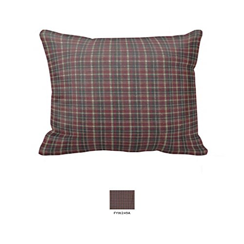 Patch Magic Fabric 27-Inch by 21-Inch Pillow Sham, Dark Red And Black Plaid