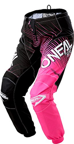 O'NEAL Element Racewear Damen MX DH MTB Pant Hose lang schwarz/pink 2018 Oneal: Größe: 7/8 (32)