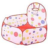 DAUERHAFT Piscina de Bolas para bebés Piscina de Bolas para niños Juegos para niños Tienda de Juegos para niños pequeños Bolas para niños