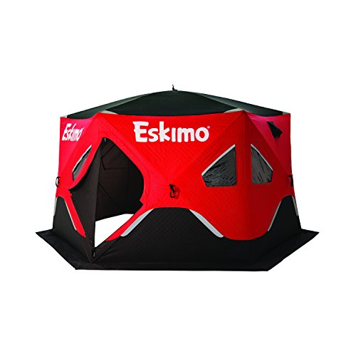 Eskimo FF61201 FatFish Insulated Pop-up Portable 6-Sided Ice Shelter