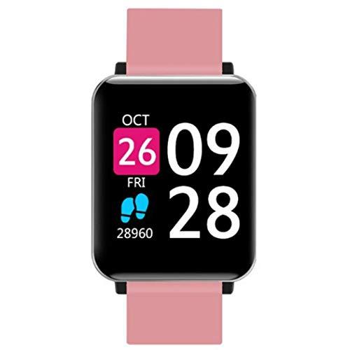Tinement Unisex a Prueba de Agua Pantalla Digital Cierre de Hebilla Pulsera Inteligente Salud Pulsera Smartwatches