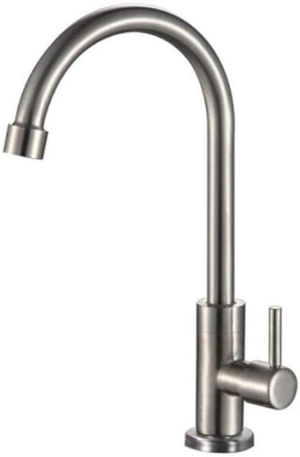 Taps Kitchen Sinktaps Mixer Swivel Faucet Sink Stainless Steel greenical Single-Cold