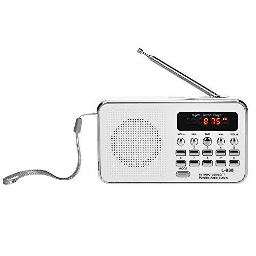 docooler L-938 Mini FM Radio Altoparlante Digitale Portatile da 3 W Altoparlante MP3 Lettore Audio ad Alta fedeltà Qualità w/Schermo da 1,5 Pollici Supporto unità USB TF Scheda MMC AUX-in Uscita