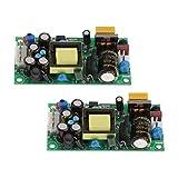 Milageto 2個入りパックピース/個AC-DCコンバータモジュールダウンダウンモジュール12V / 5Vデュアル