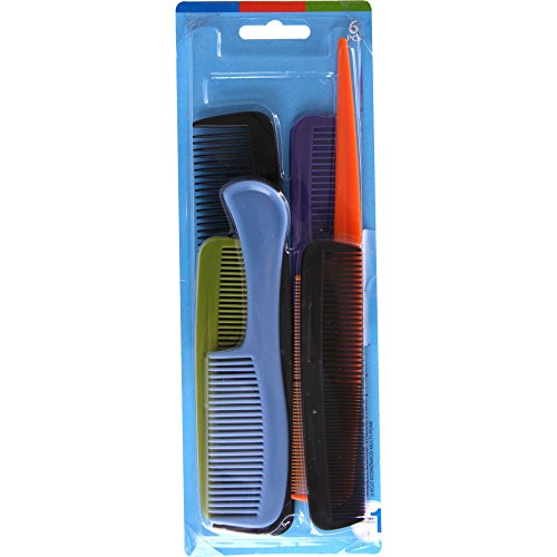 Goody - Hair Products Family Set of 6 Combs - Assorted Colors - 1 Pack