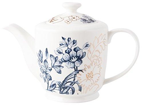 V & A Palmers Seide Teekanne aus feinem Porzellan, Weiß