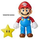 "Nintendo Super Mario, 4"" Articulated Figure with Super Star"