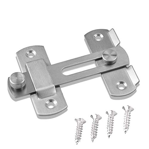 Stainless Steel Safety Door Latches, Solid Gate Latches Brushed Finish (Door Flip Latch)