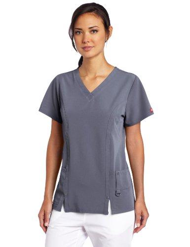 Dickies Damen Xtreme Stretch V-Ausschnitt Scrubs Shirt - grau - Mittel