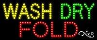 11x 27x 1インチWash Dry Foldアニメーション点滅LEDウィンドウサイン