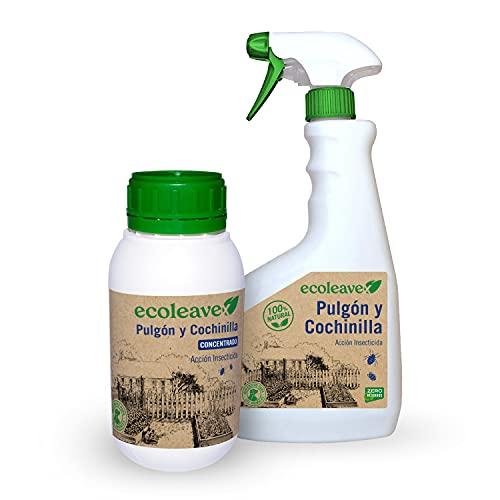 ECOLEAVEX Pulgón y Cochinilla. Acción Insecticida, ECOLOGICO, 100% Natural y Residuo Zero. con Abonos, Micronutrientes y Bioestimulantes. (Concentrado 20 Rellenos + Pulverizador)