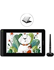 HUION KAMVAS 12 Drawing Tablet Graphic Pen Display with Full-Laminated Screen Battery-Free Stylus Tilt Function Battery-Free Stylus 8192 Pen Pressure, 11.6 inch with Adjustable Stand (Orange)