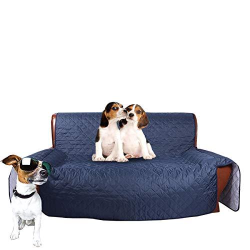 Haosen Funda para sofá cama de mascotas, perros/niños, cojín de sofá grande, suave, protector de muebles, 3 tamaños (individual 53 x 183 cm), color azul