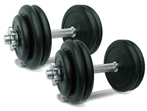BODY CHANGE【お得な2個セット】ラバーダンベル15kgセット×2個(ラバープレートタイプ) / 鉄アレー