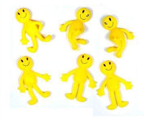 ADL Wholesale Lot de 20 bonshommes souriants élastiques