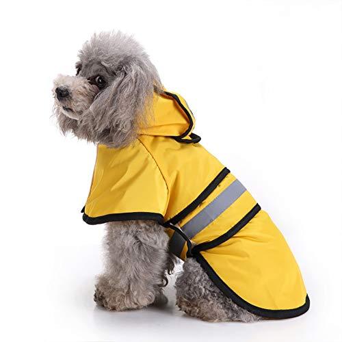TOHHOT Pet Dog regenjas Pet Dog reflecterende regenjas poncho voor grote honden zoals gouden retro