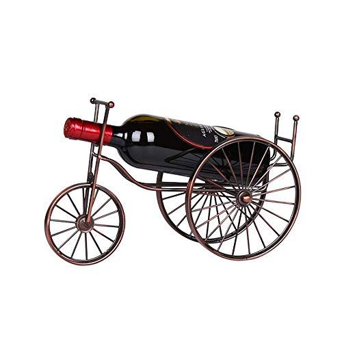 Estante de vino Creative Bicycle Design Tabletop Botella de vino Soporte Freestanding Metal Metal Almacenamiento de vino Soporte de rack Baroque Design Crafts Copos Rose Gold Color Soporte de almacena