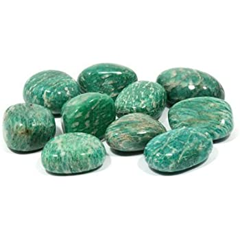 Amazonite Tumble Stone (20-25mm) 5 Pack in Velvet Pouch