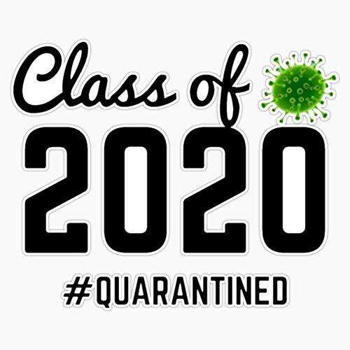 CNW Studio Class of 2020#Quarantined Sticker Vinyl Decal Wall Laptop Car Bumper Sticker 5'
