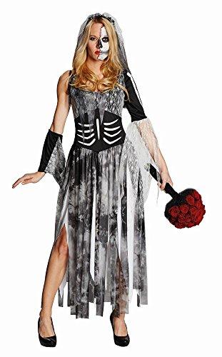 Rubie's Damen Kostüm Zombiebraut Brautkleid zum Zombie Halloween Gr.42