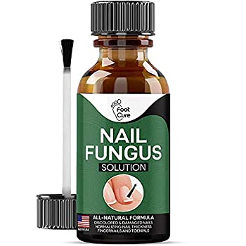 Foot Cure Extra Strong Nail & Toe Fungus Treatment - Made In USA Best Nail Repair Set Fungi Fingernail & Toenail Solution Fix & Renew Damage Fungal Nail Broken Cracked & Discolored Nails 1 Pack
