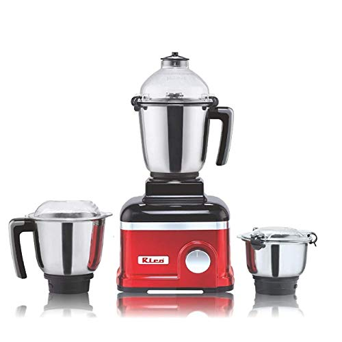 Rico Mixer Grinder 750 Watts Motor - 3 Unbreakable Jar Japanese Technology 2 Year Replacement Warranty I 100% Copper Motor l Made in India, Red