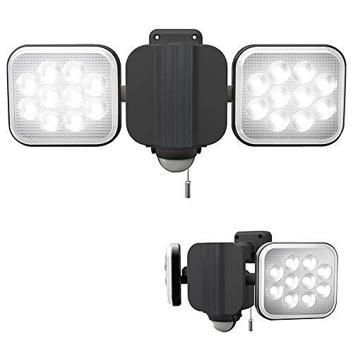 プロモート フリーアーム式LEDセンサーライト (12W 2灯) コンセント式 防雨型 取寄品 LED-AC2024DS