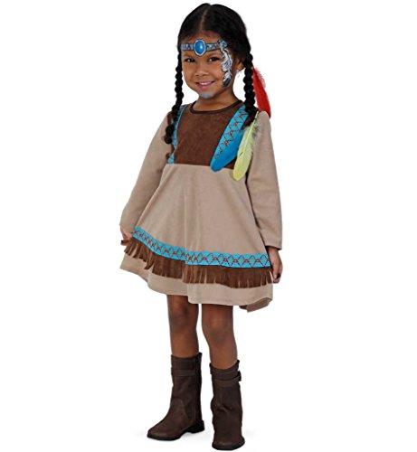 KarnevalsTeufel Kinder-Kostüm Indianer Kleine Feder Ureinwohner Wilder-Westen-Outfit Gr 86, 98 (86)