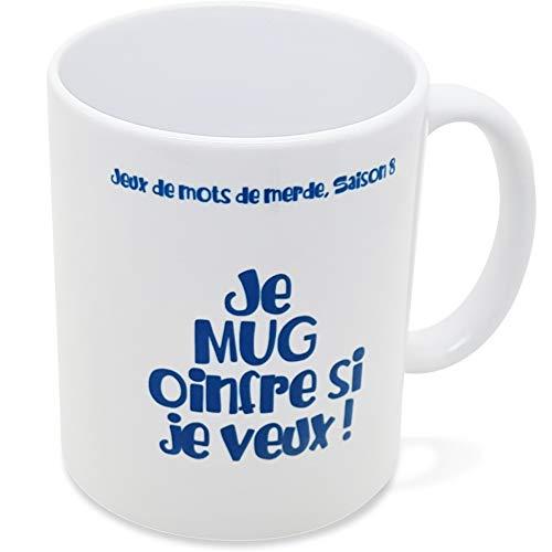 Mug Humour Je Mug Oinfre si je Veux Tasse Message drôle. Idée Cadeau Original Amis Couple Amoureux Collègue Frère Sœur pour Anniversaire Noël juste pour le Plaisir. Dino Mugs le Sourire dès le Réveil.