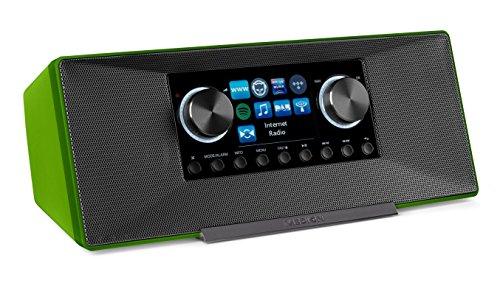 MEDION P85135 7,1 cm (2,8 Zoll TFT-Display) WLAN Internet-Radio, 2x6 W RMS, DLNA-/UPnP, DAB+, FM/UKW, LAN, USB 2.0, Aux, Spotify, grün