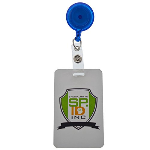 Translucent Blue Badge Reel with Swivel Spring Clip by Specialist ID, Sold Individually
