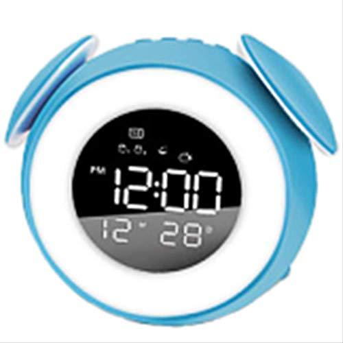 Wake Up Light Lámpara De Mesa con Reloj Despertador con Luz Nocturna En Modo Sunset para La Decoración del Dormitorio De Los Niños Azul