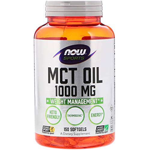 Now Foods Mct Oil Softgels, 1000 Mg, 150-Count, 200 g