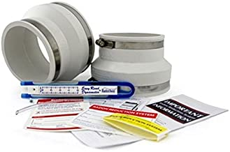 Radon Fan Installation Kit (Rubber couplings, manometer and system labels) (4x6, White)