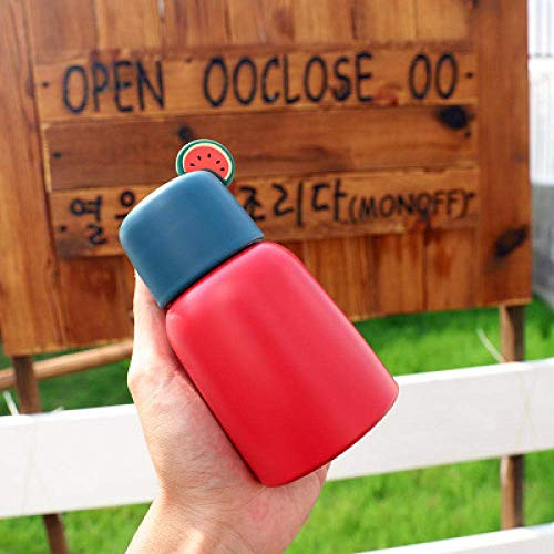 Wzmdd 250ml Mini Leuke Mode RVS Vacuüm Flasks Thermos Cup Koffie Thee Melk Reizen Mok Water Fles Cadeau Cup Groen