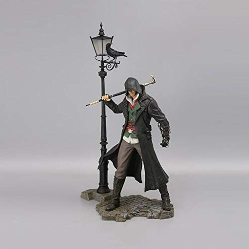Luckly77 Jacob Frye Assassins Creed Syndicate Attentäter Robes Büste Statue Action-Figur Exquisite Box Geschenk - 17cm Toy