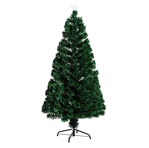 HOMCOM Albero di Natale artificiale abete in pvc foltissimo...