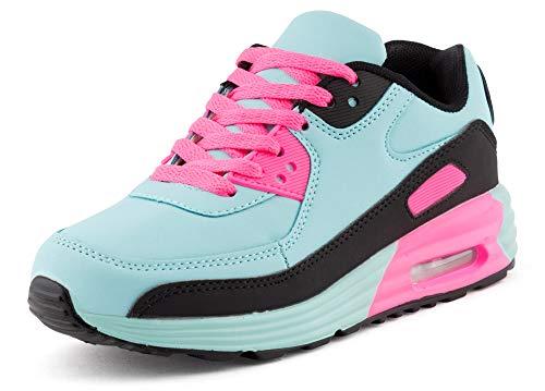 Fusskleidung Unisex Damen Herren Sportschuhe Übergrößen Laufschuhe Turnschuhe Neon Sneaker Schuhe EU Blau Schwarz Pink 39