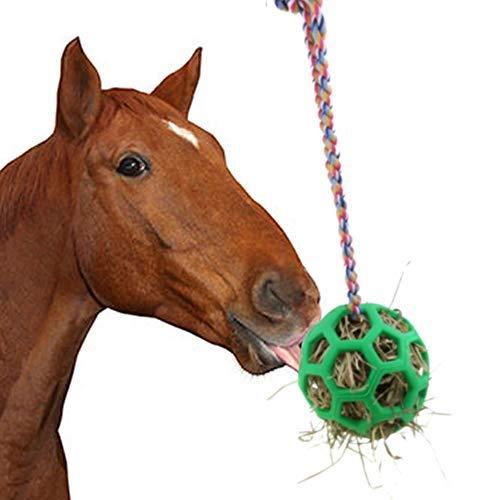 Juguete de alimentación colgante de bola de heno de la bola del trato del caballo para el descanso estable del puesto del caballo
