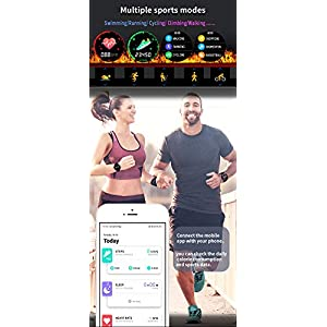 J-SPYFIT Smart Watch (GPS+Heart Rate+Sleep Monitor+Editable HD Full Touch Screen),IP67 Activity Fitness Tracker,Pedometer,Calorie Counter,Sleep Tracker,Bluetooth Sports Mens Womens Smartwatches