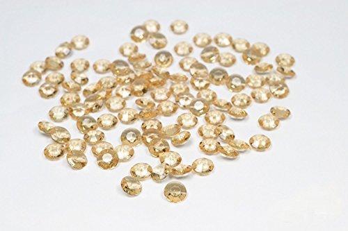 Butterfly 100 Diamants en Plastique pour Decoration de Table Mariage Ceremonie (doré 687)