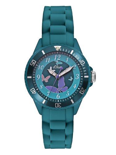 s.Oliver Mädchen-Armbanduhr Analog Quarz Silikon SO-2597-PQ