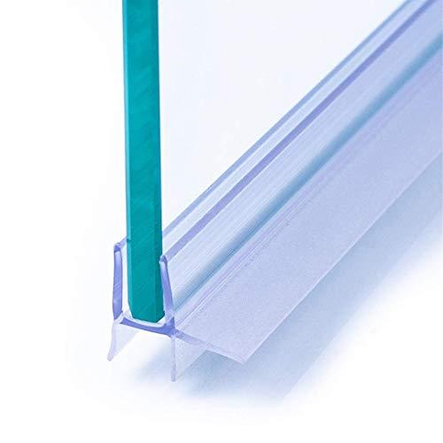 IEGAR Guarnizione 100Cm Sottoporta Trasparente 2a Generazione Profilo Doppia Aletta Ricambio Box Doccia In Vetro Con Porta Battente o Scorrevole Unive